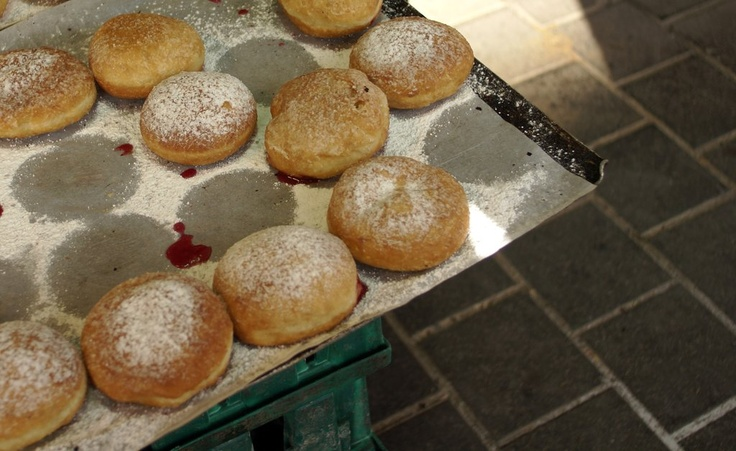 Sufganiyot (jelly donuts eaten at Channukah)