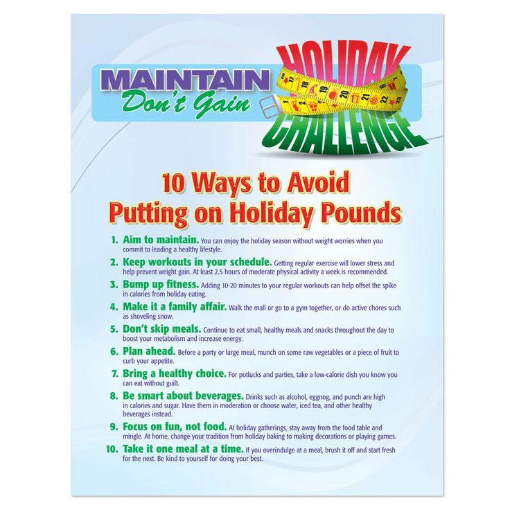 10 Ways to Avoid Putting on Pounds This Holiday Season