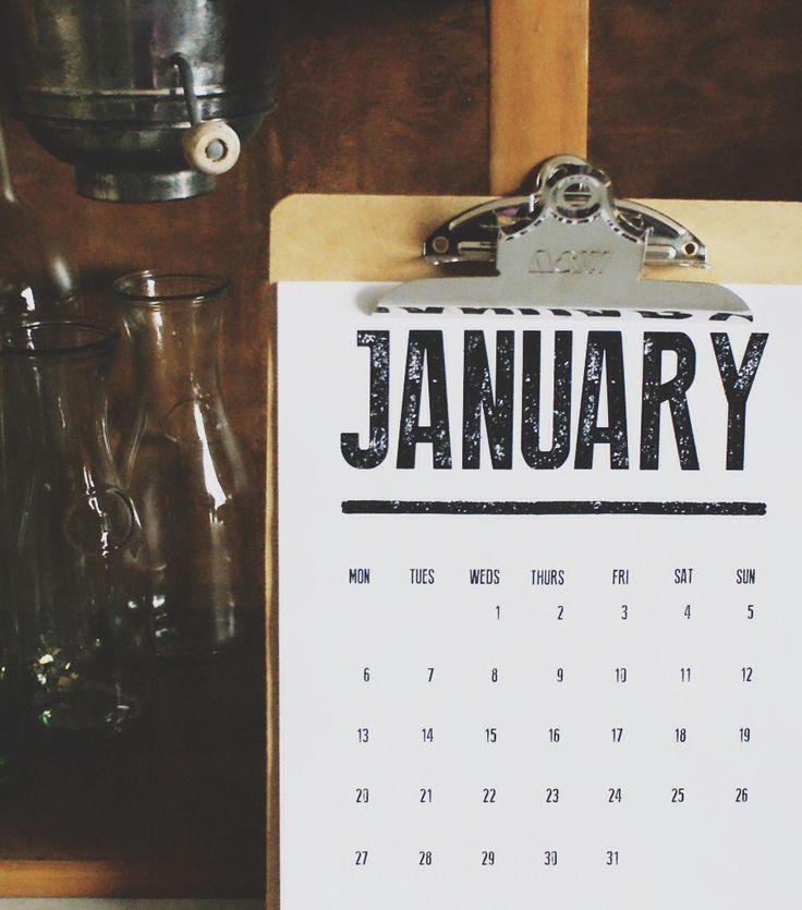 Printable 2014 Calendar | http://jillianastasia.com/printable-2014-calendar/