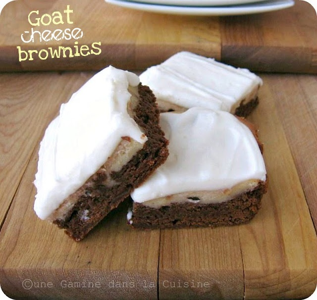 Goat Cheese Brownies | cakes to make | Pinterest