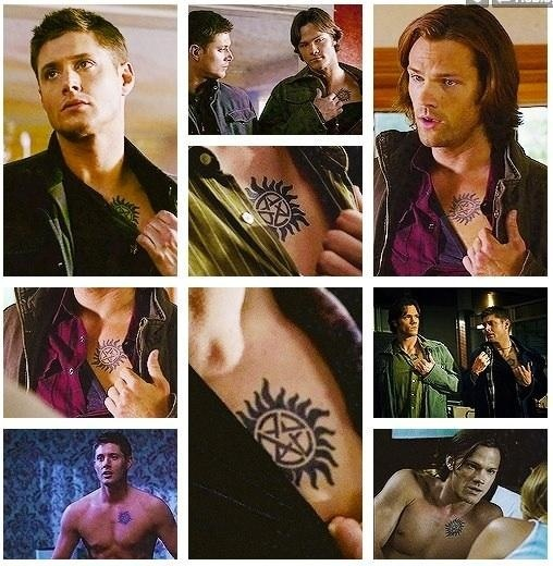 Supernatural sam dean 39 s anti possession tattoos for Dean and sams tattoo