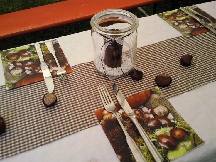 Tischdeko Herbst  Bastelideen für Tischdekorationen  Pinterest