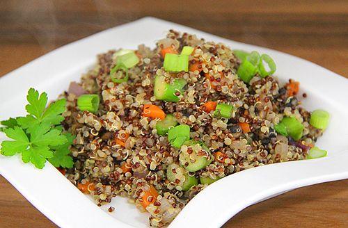 Carrot, Asparagus, and Mushroom Quinoa Salad (skip oyster sauce for ...