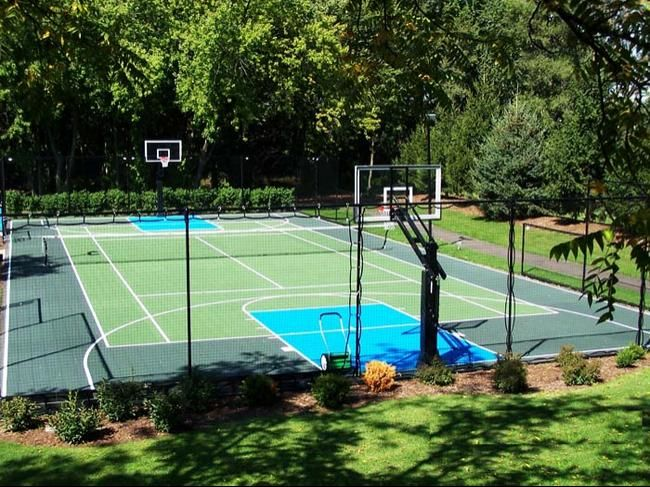 backyard multi game courts cool home ideas pinterest