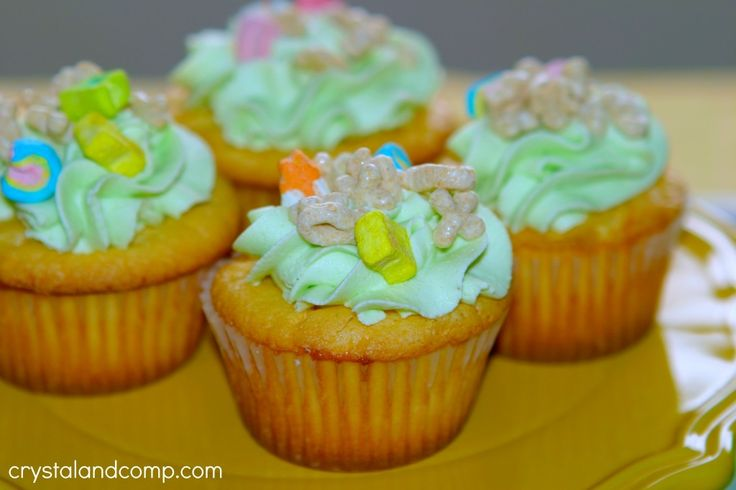lucky charms cupcakes | Cookies, Brownies & Candy | Pinterest