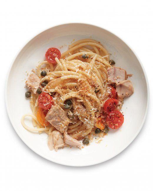 Tuna And Caper Tomato Pasta Recipe — Dishmaps