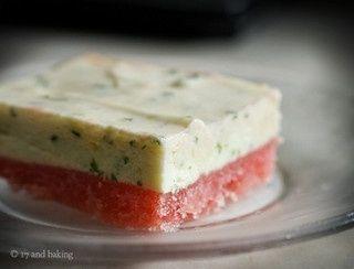 Frozen Watermelon Basil-Lime Bars by 17andbaking #Watermelon #Basil # ...