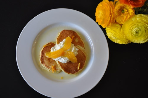 Orange Ricotta Pancakes | YUM | Pinterest