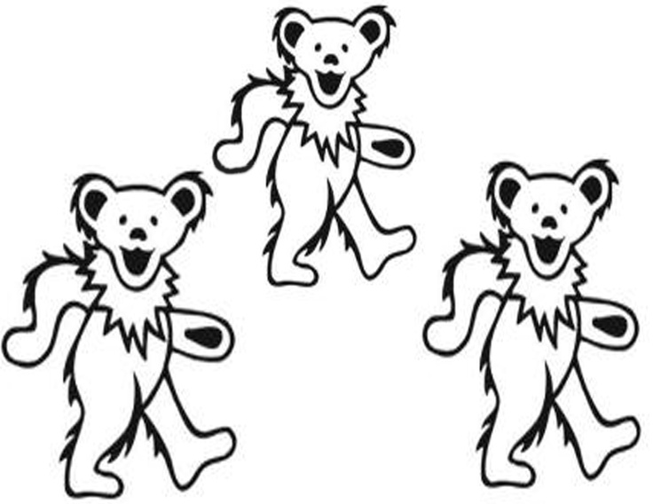 Grateful Dead Bears Coloring Pages Sketch Coloring Page