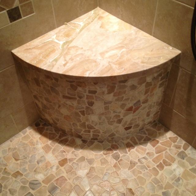 Corner Bench In Shower Master Bathroom Ideas Pinterest