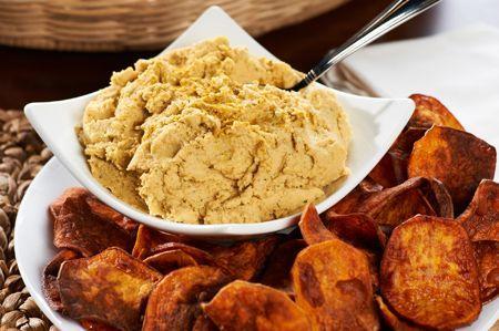 ... Venable QVC shares his Garlic-Curry Hummus & Sweet Potato Chips recipe