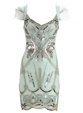 Green Cocktail Dress - this looks like it is straight out of the Great Gatsby and I want it.