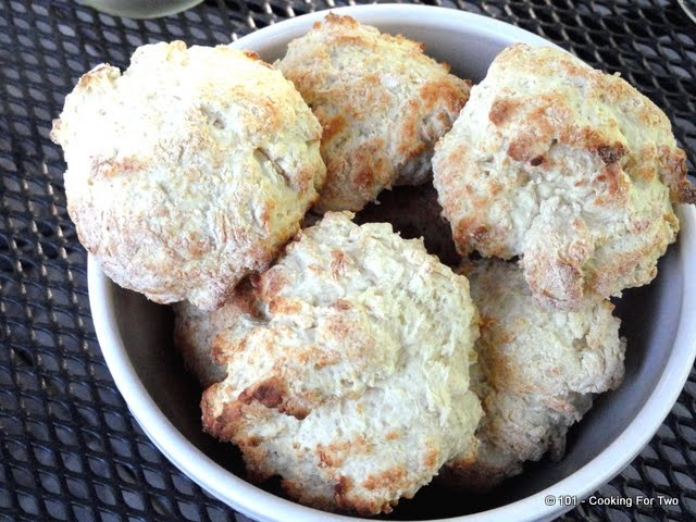 ... For Two - Everyday Recipes for Two: Low Fat Sour Cream Drop Biscuits