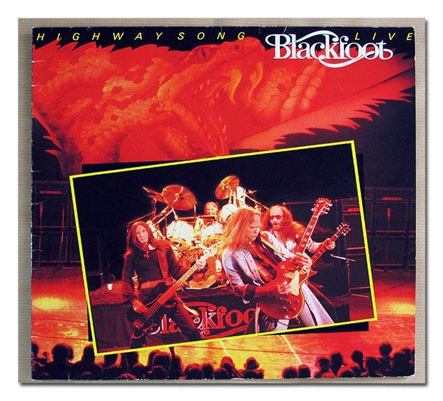 """BLACKFOOT HIGHWAY SONG LIVE 12"""" LP VINYL"""