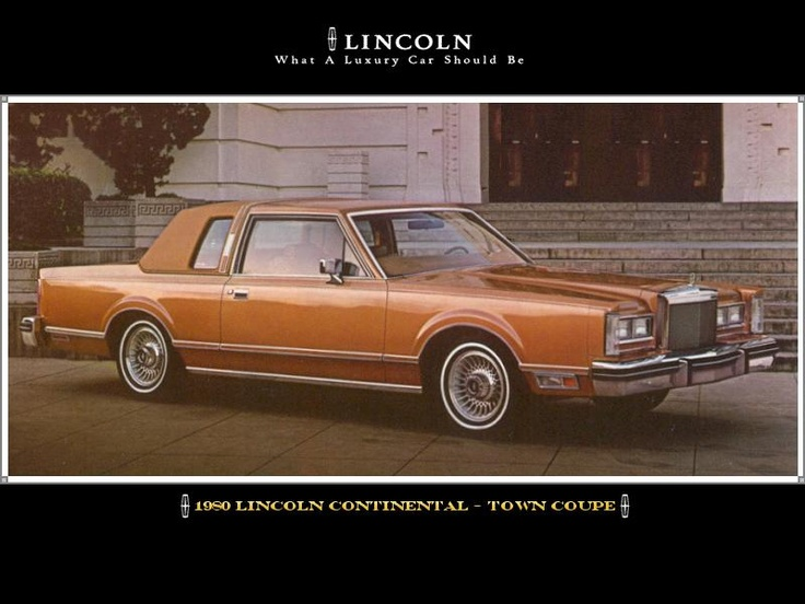 1980 lincoln continental town coupe memories 80 39 s cars pintere. Black Bedroom Furniture Sets. Home Design Ideas