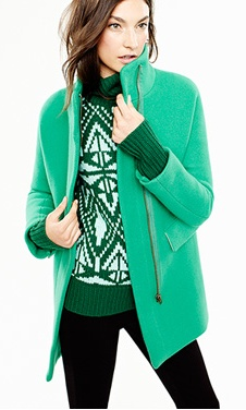perfect green jacket for cold games #kendrascott #teamKS