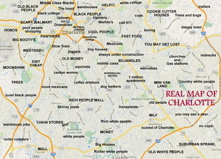 REAL MAP OF CHARLOTTE  Charlotte NC  Pinterest