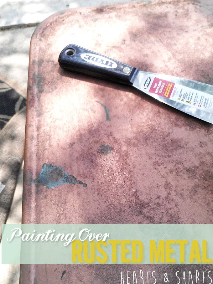 painting over rusted baseboards
