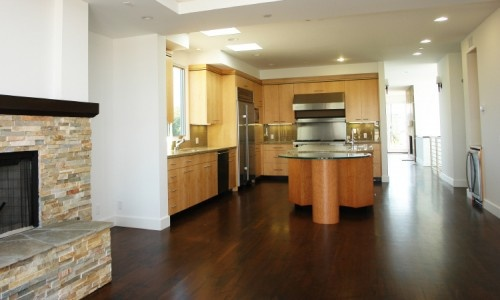 Dark Floors with our maple cabinets  Dream House  Pinterest