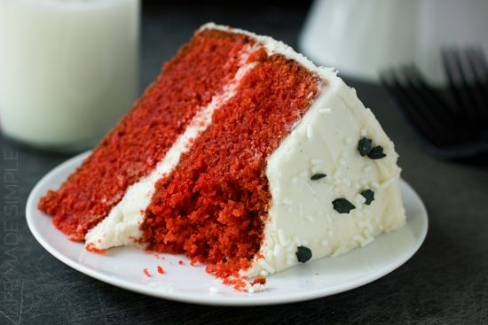 Red Velvet Cake with Vanilla Bean Cream Cheese Frosting | Life Made ...