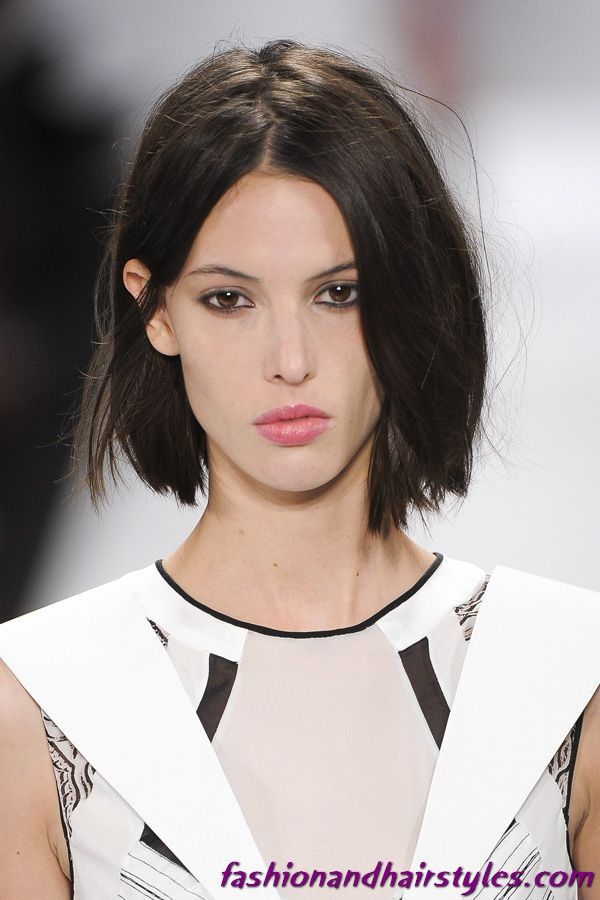 Model Bob Hairstyle Hair Pinterest