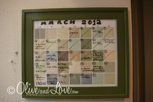Need to make this kind of a calendar of sorts. Uses paint chips for squares