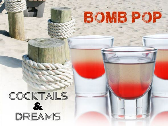 Bomb Pop #Cocktail (served as a shot) for 4th of July or anytime!