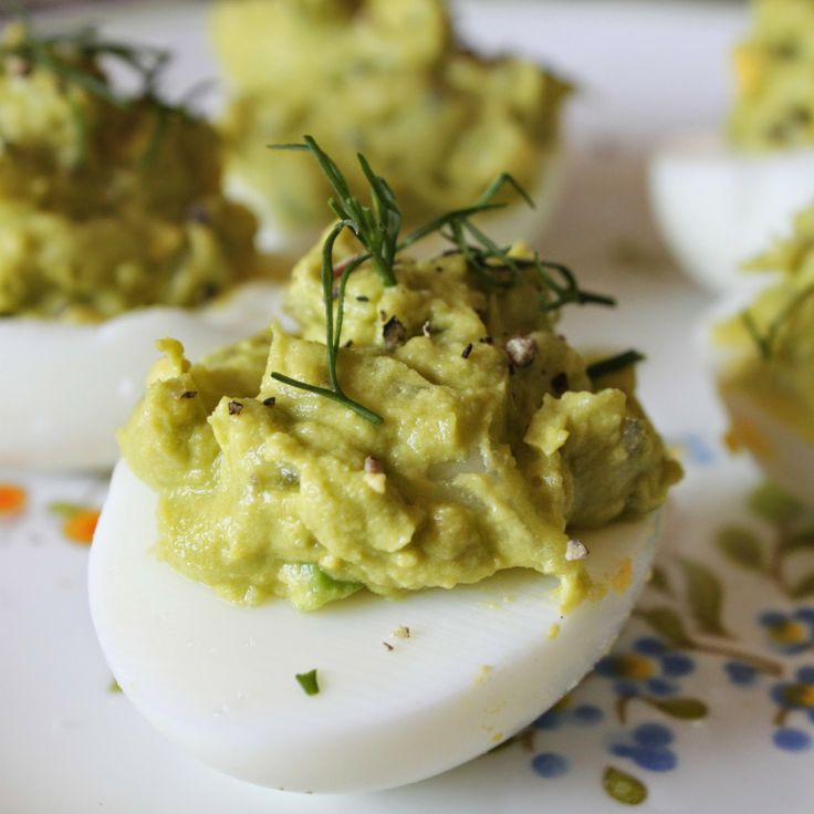avocado deviled eggs | EAT | Pinterest