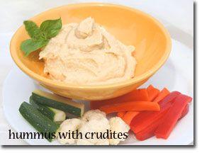 Hummus with Crudités | Food/Recipes | Pinterest