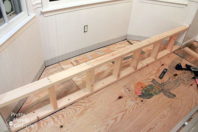 Build Front Frame For Window Seat Red Room Pinterest