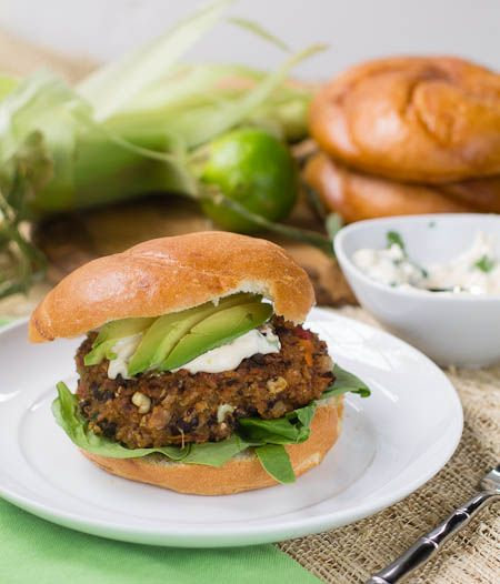 ... Bean Burgers with Cilantro Lime Mayo from Tupelo Honey Cafe Cookbook
