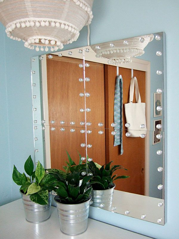 DIY studded tile mirrors