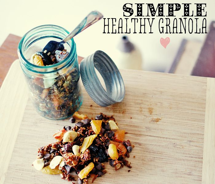SIMPLE healthy granola recipe | Recipes~Snacks | Pinterest