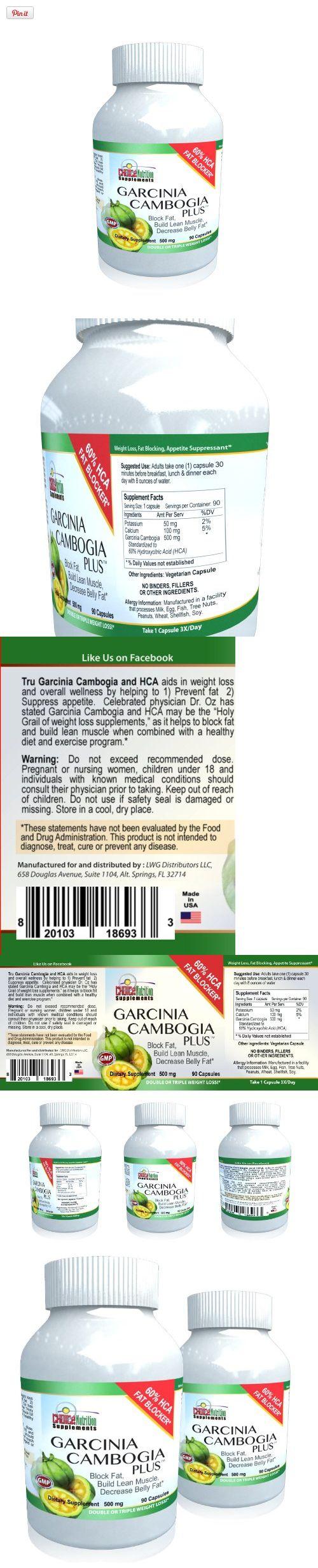 Garcinia Cambogia Plus Potassium and Calcium- Pure Extract - 60% HCA