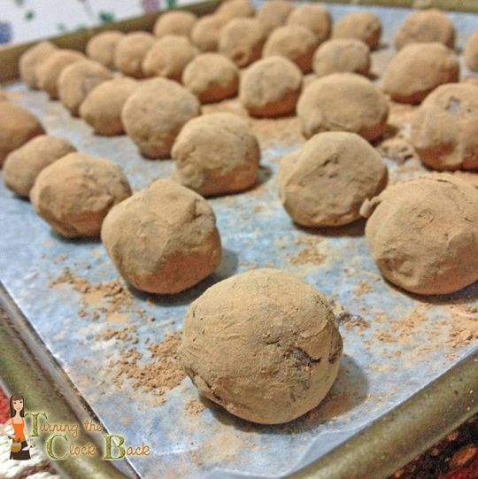 Gingerbread Truffles. Dip in Chocolate and loaded with crystallized ...