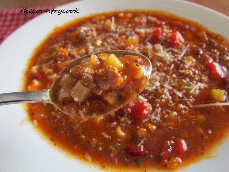 Olive Garden 39 S Pasta E Fagioli Soup Country Cook Recipes Pinterest