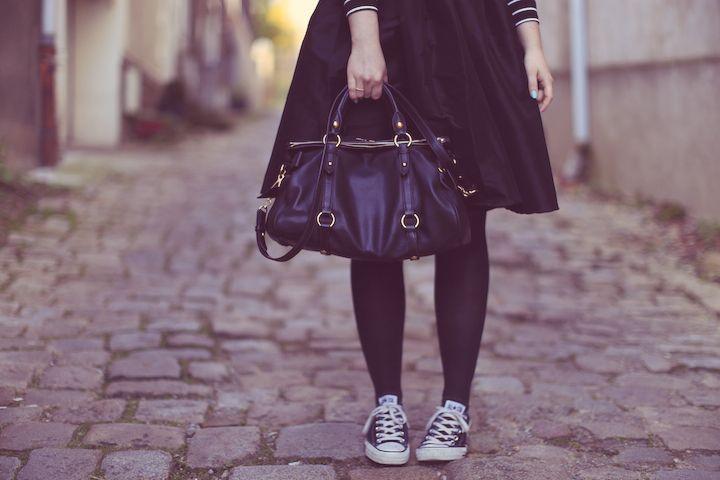 midi skirt converse fashion