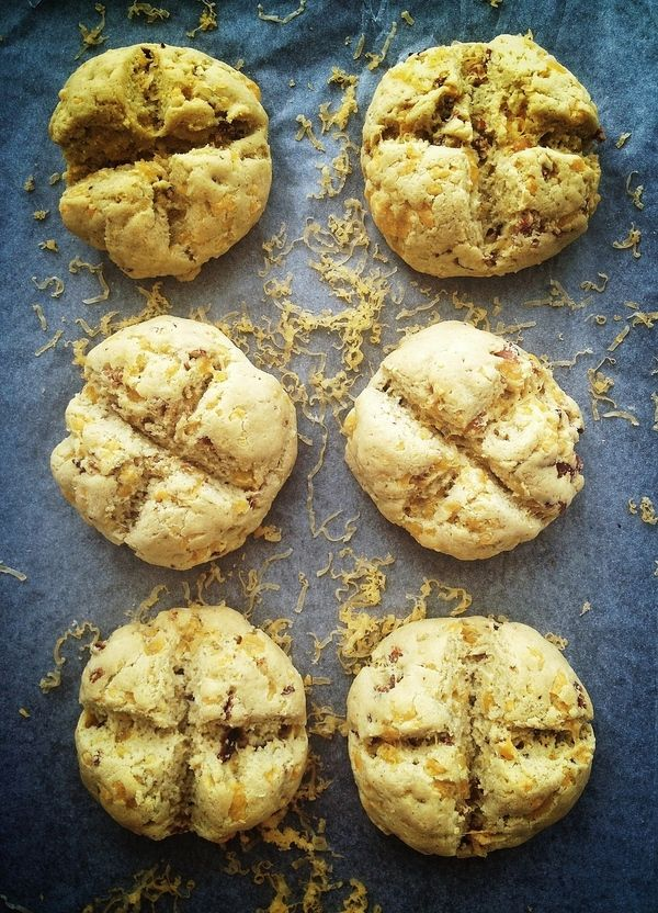 Post image for Cheddar & Bacon Irish Soda Bread Rolls. (Gluten/Grain ...