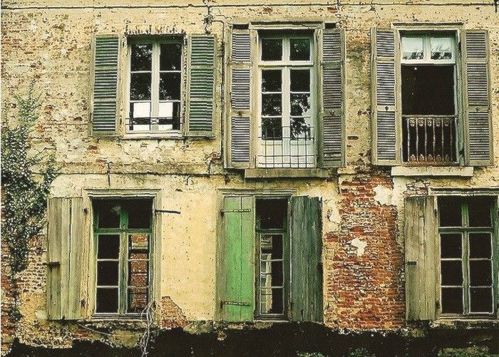 French Country Home Old Green Shutters Favorite Places