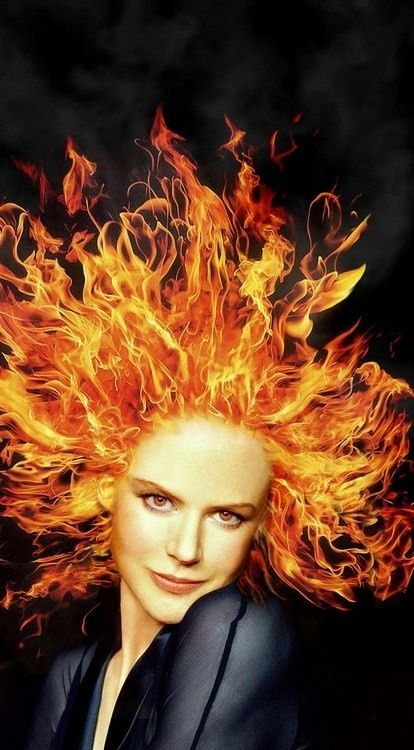 fire hair quotcool water evaporating in flaming firequot myk