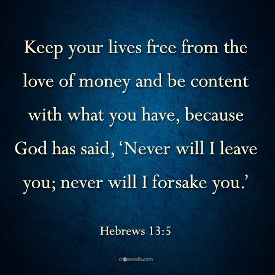 Hebrews 13:5 | this is life | Pinterest
