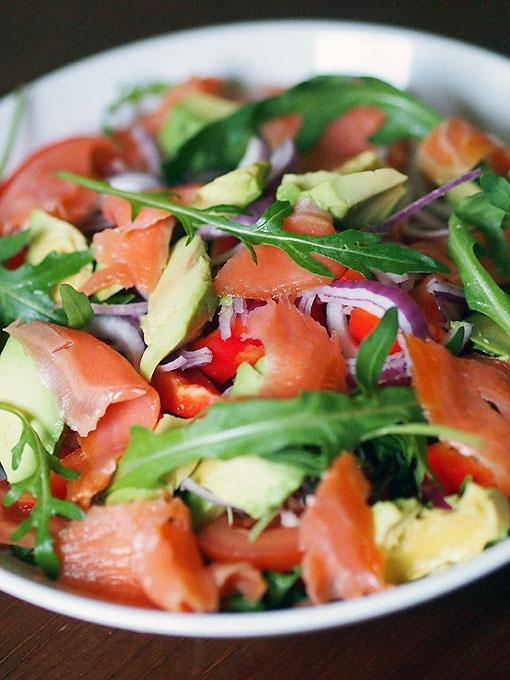 Smoked salmon salad / Minna Rosé blog http://minna-rose.blogspot.fi/