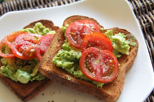 Avocado tomato toasts. | Cooking | Pinterest