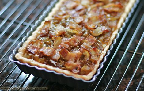 Caramelized Onion and Bacon Tart http://www.bakingobsession.com/2007 ...