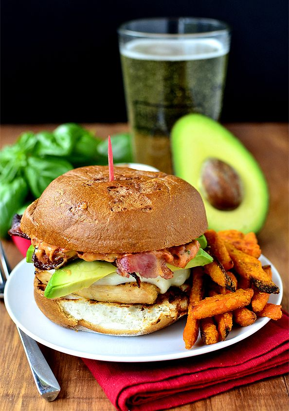 Grilled Chicken, Bacon and Avocado Melts with Sun Dried Tomato-Basil ...