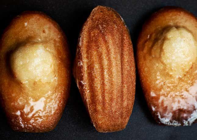 Glazed Madeleines. From bon appetit. Made the Orange-Blossom Honey ...