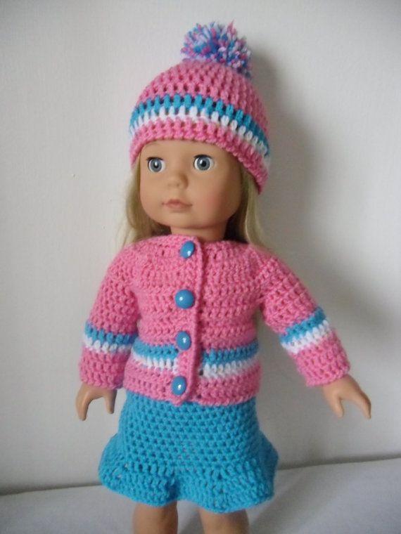 Crochet Poncho Pattern For 18 Inch Doll : Crochet pattern pdf for 18 inch doll, American Girl doll ...