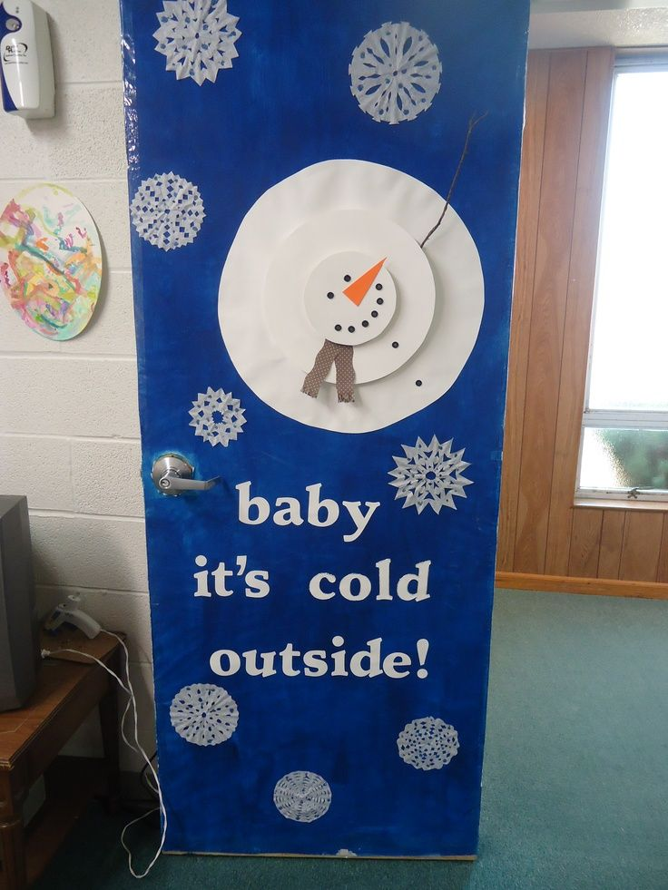 Winter Classroom Decorations ~ School classroom winter door just b use