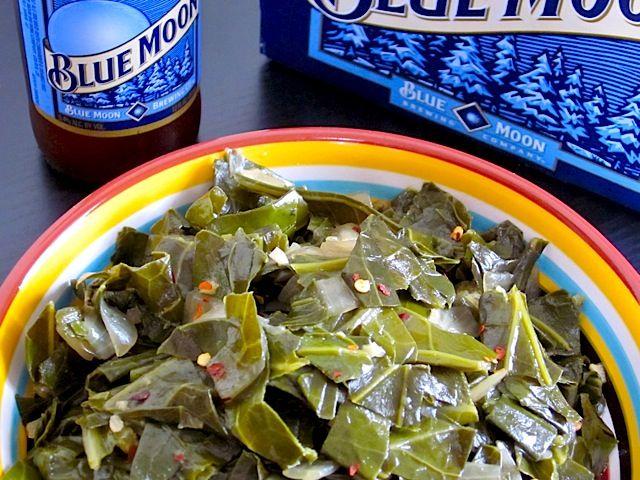 beer braised collard greens   Yummy   Pinterest