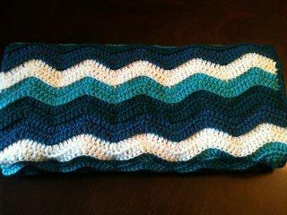 Crochet Ocean Wave : Ocean waves toddler blanket